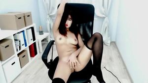 Naughty Asian Likes It In The Chair